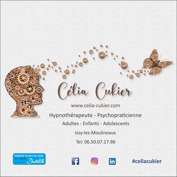 carte de visite Célia Cukier - Hypnothérapeute à Issy les Moulineaux
